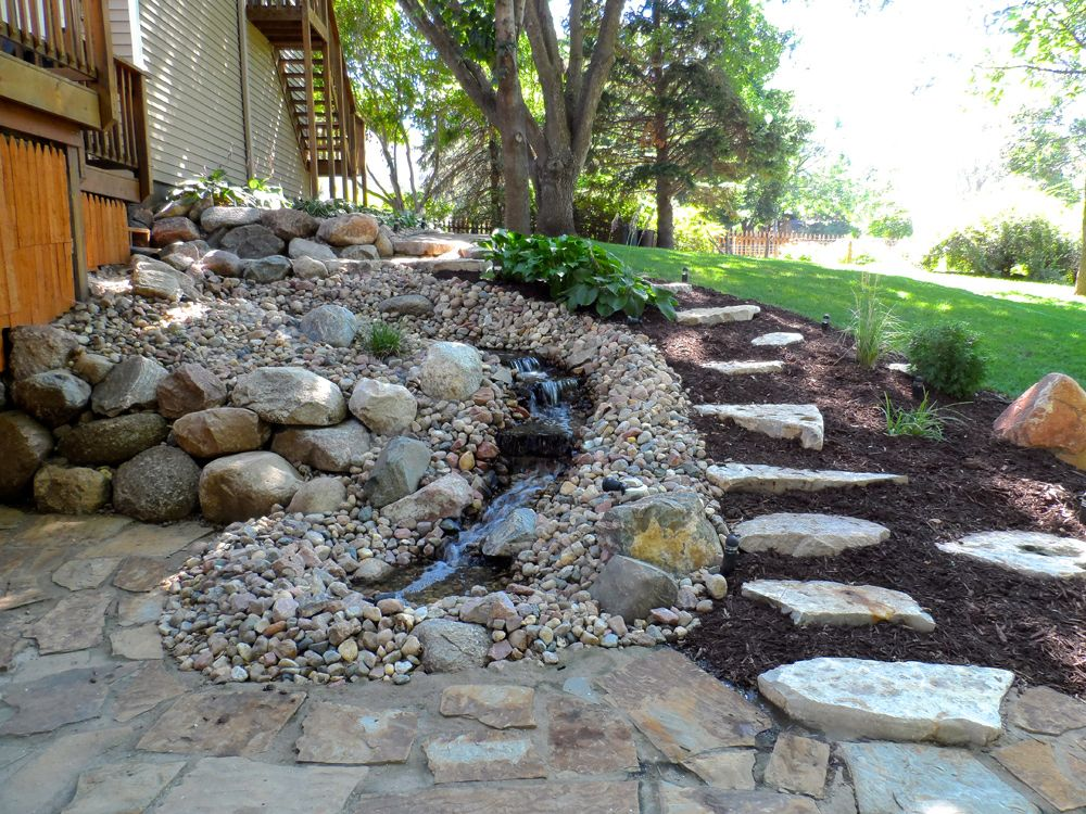 Landscaping Rock Waterscapes For Mountain Living Garden Water