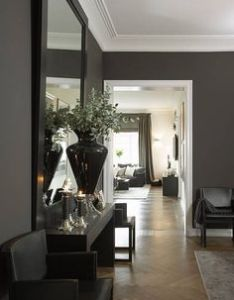beautiful home in oslo with grey walls and crisp white trim also rh pinterest