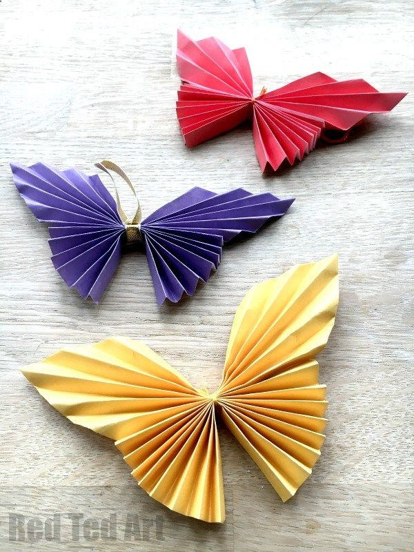 Easy paper butterfly origami beautiful butterflies for kids to make these look super effective would great as  wall decoration mobile also rh pinterest