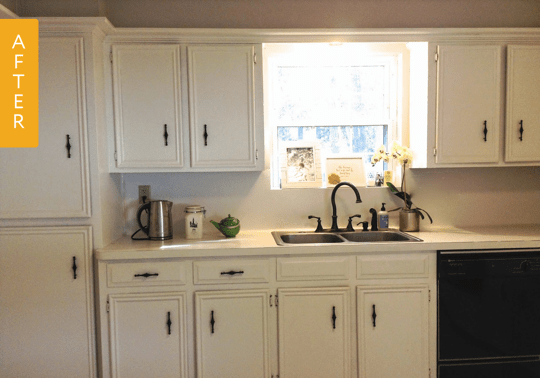 kitchen facelift before and after make over & after: a dark 1960s gets bright $185 ...