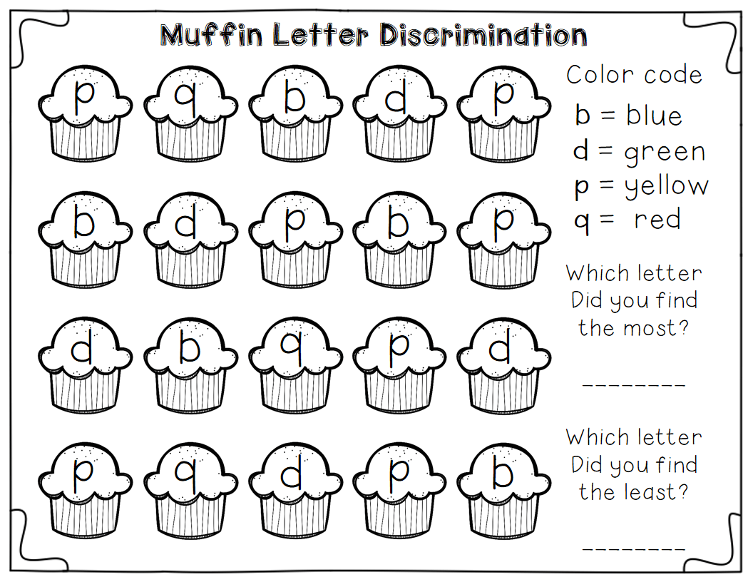 Free Letter Discrimination Worksheets Plus A Little Math