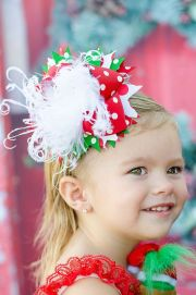 over top christmas hair bow