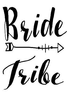 Personalised bride #tribe hen #party iron on t shirt heat