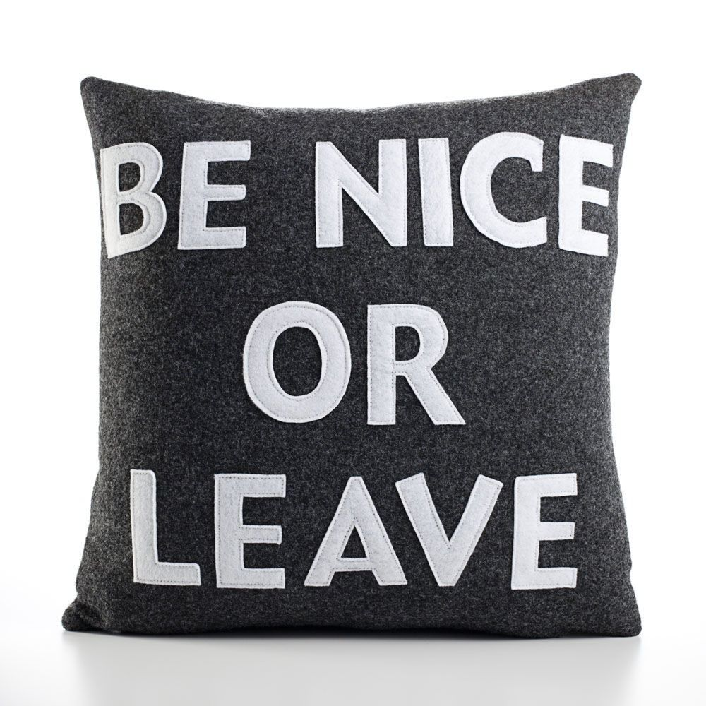 Alexandra Ferguson Be Nice or Leave Decorative Pillow