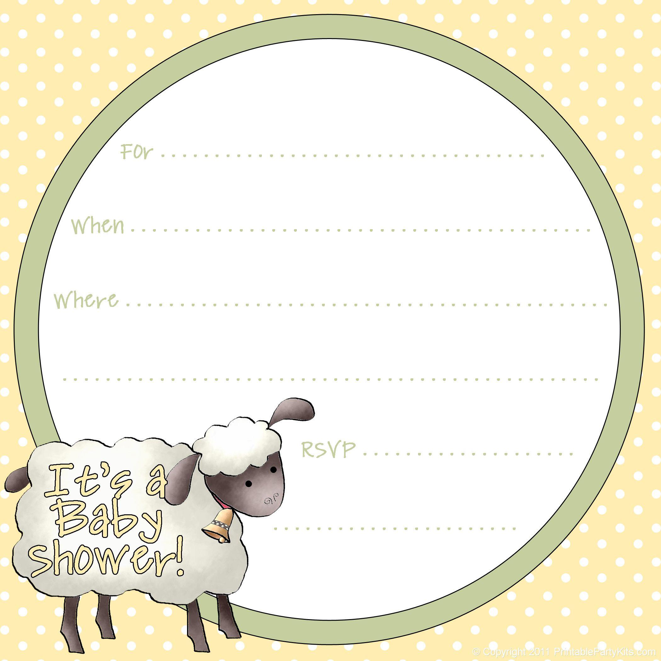 Free Sheep Printables