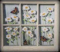 Panes of Art, Barn Quilts, Hand Painted Windows, Window ...
