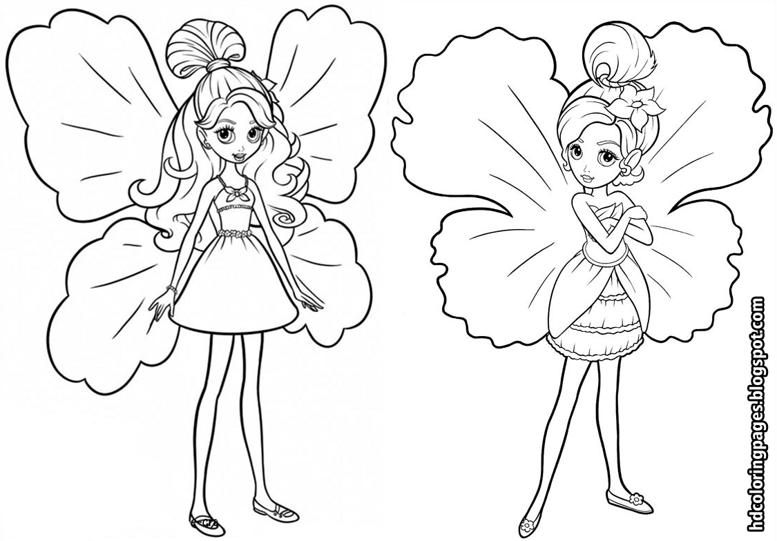 Barbie Thumbelina Coloring Pages Barbie Thumbelina Coloring