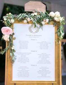 unique wedding seating chart displays the flowers   jays and also rh pinterest