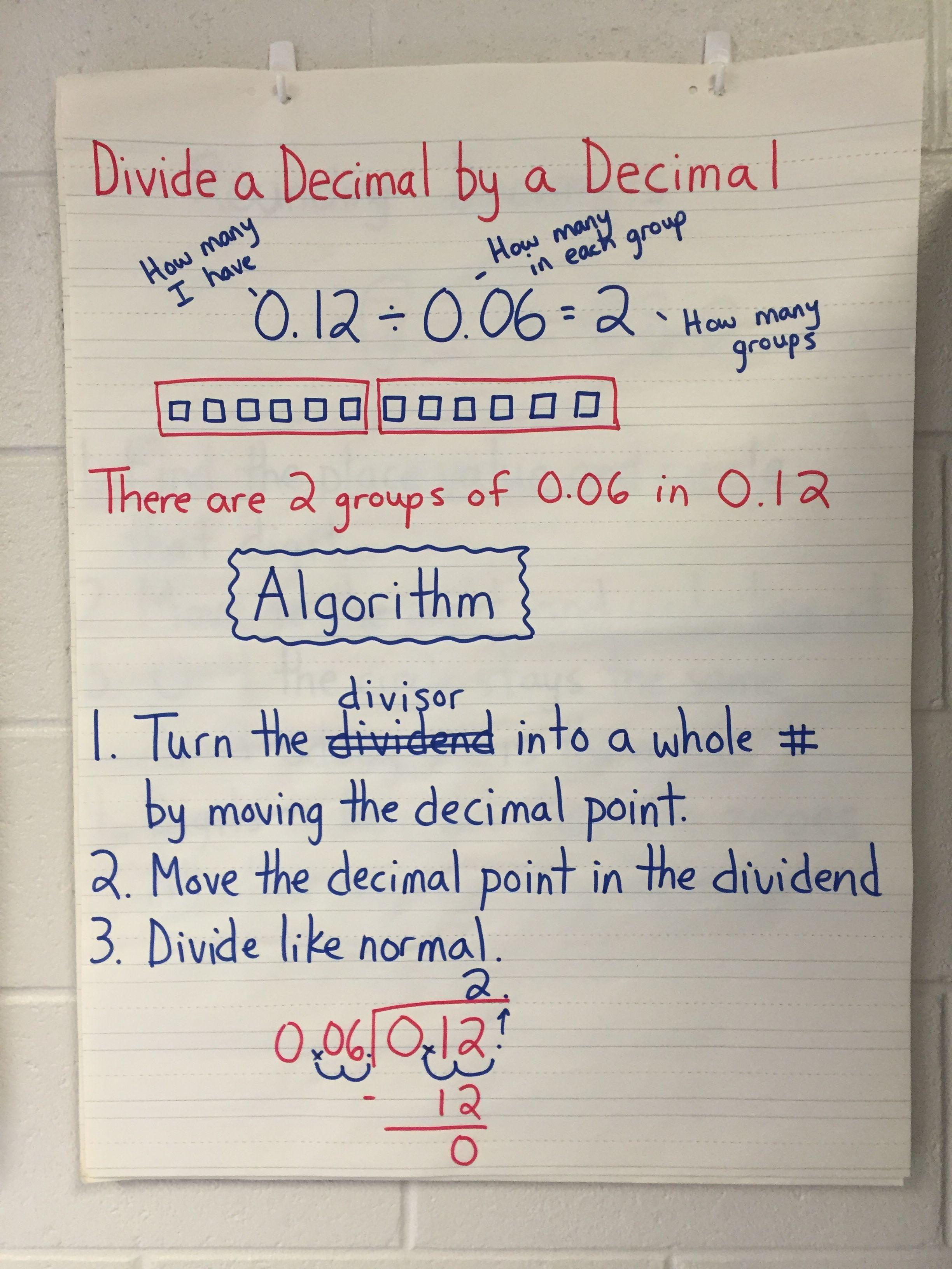 Dividing Decimals Unit