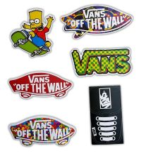 Vans Off The Wall Skateboard Stickers - Set of 6 Stickers ...