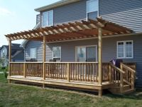 Build Pergola Raised Deck | Deck & Patio | Pinterest ...