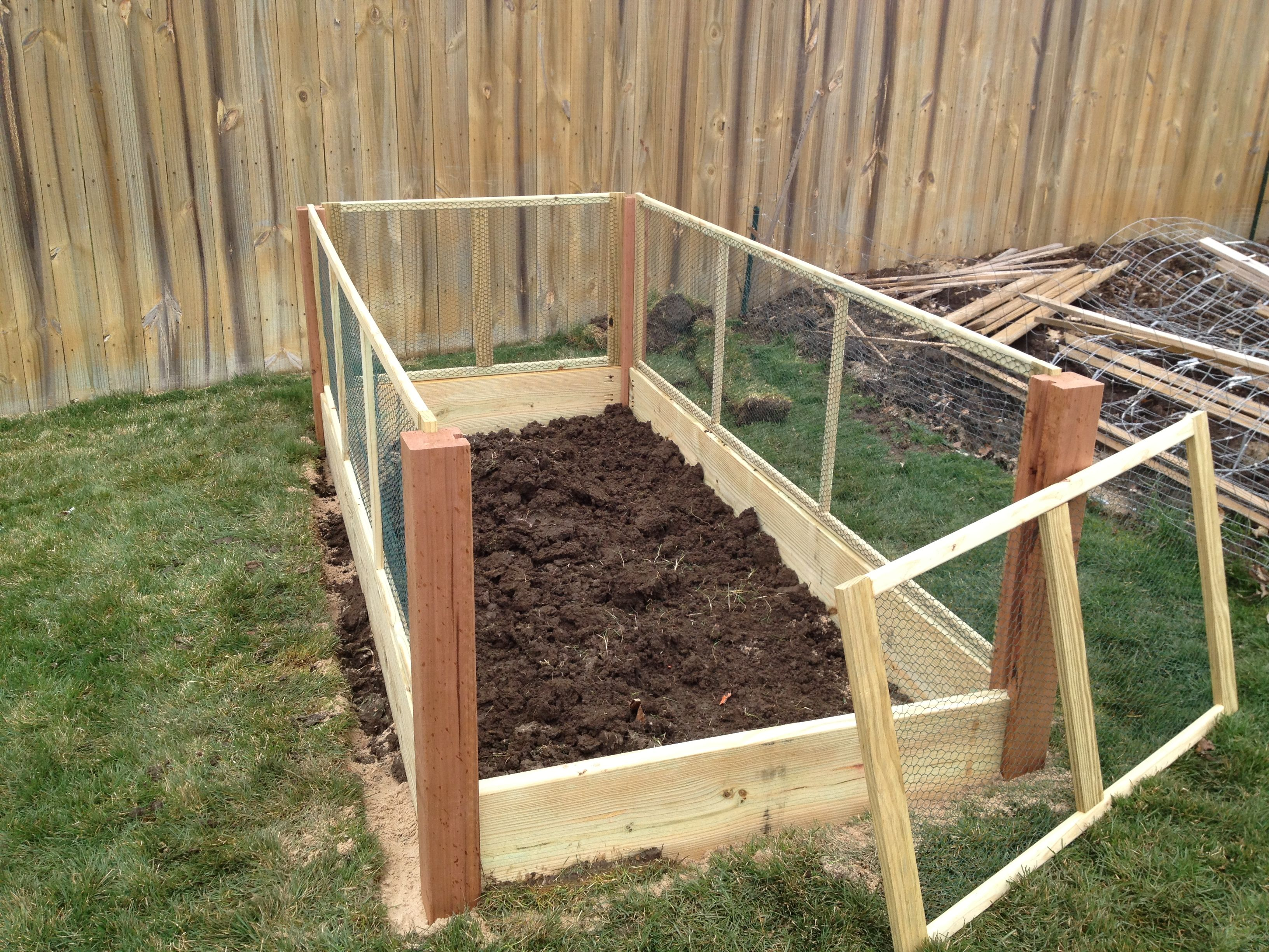 Rabbit Proof Raised Vegetable Garden