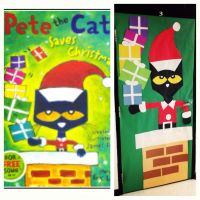 """""""Pete the Cat Saves Christmas"""" Classroom Door that I made ..."""