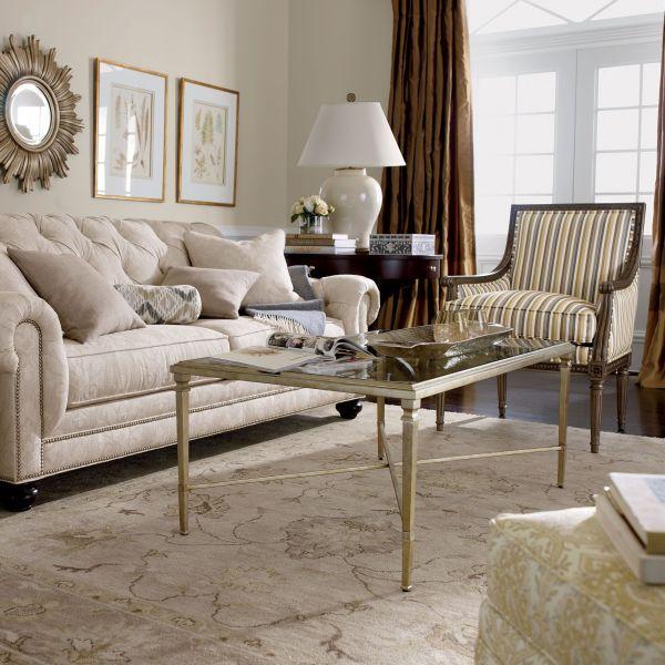 Silver Home Decor. Rectangular Heron Coffee Table - Ethan