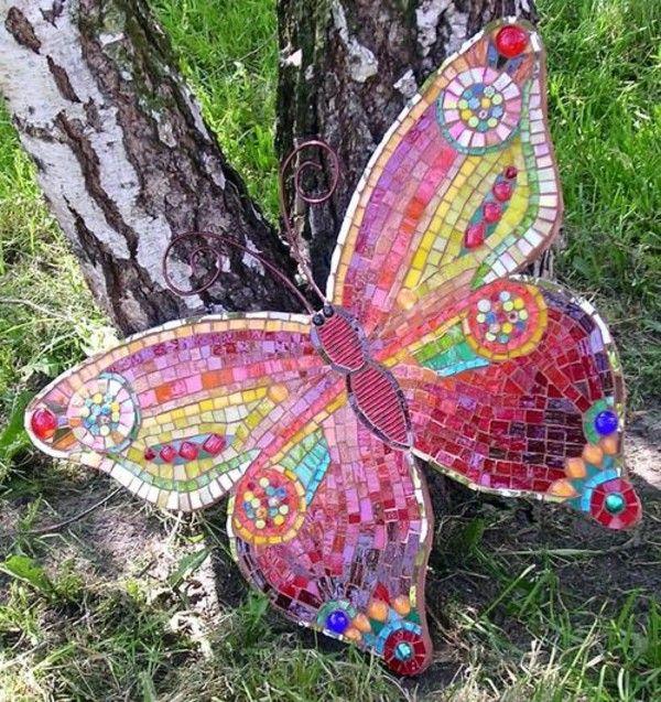 Bsateln Butterfly Mosaic Garden Ideas Decoration Craft