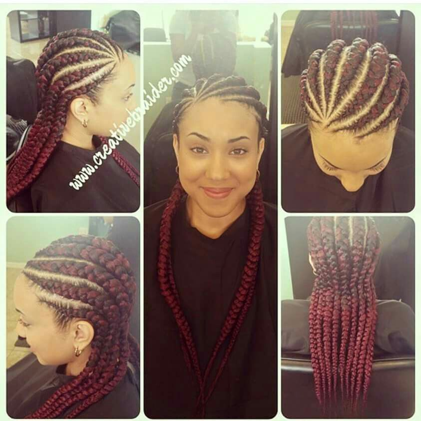 Invisible Cornrow Braids Natural Hairstyles Pinterest