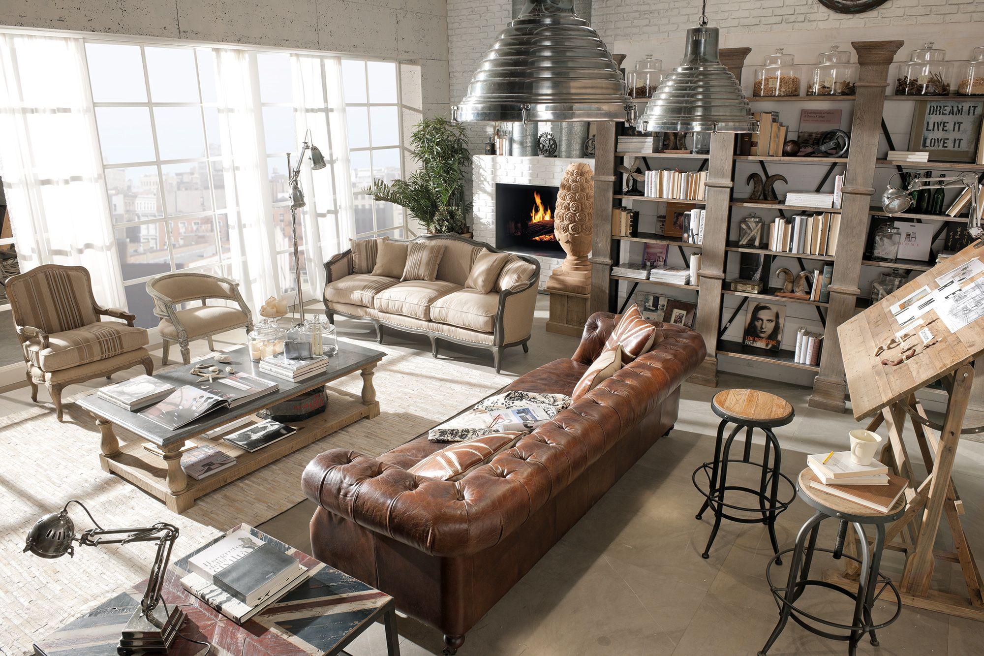 Arredamento country vintage industrial loft urban