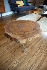 Remodelaholic | diy simple wood slab coffee table, When ...