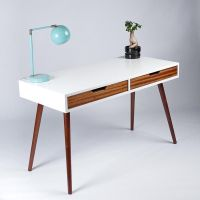 Mid-Century Modern Two Drawer Desk. Great for Writing ...