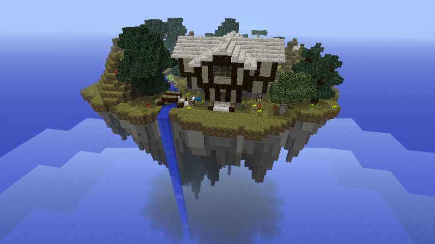 Tudor House On Floating Island Minecraft Pinterest Tudor House