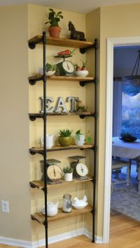 Gas Pipe Shelving & A Few More Kitchen Updates | | pantry ...