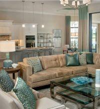 niiiiice! | Brown and Tiffany Blue/Teal Living Room ...