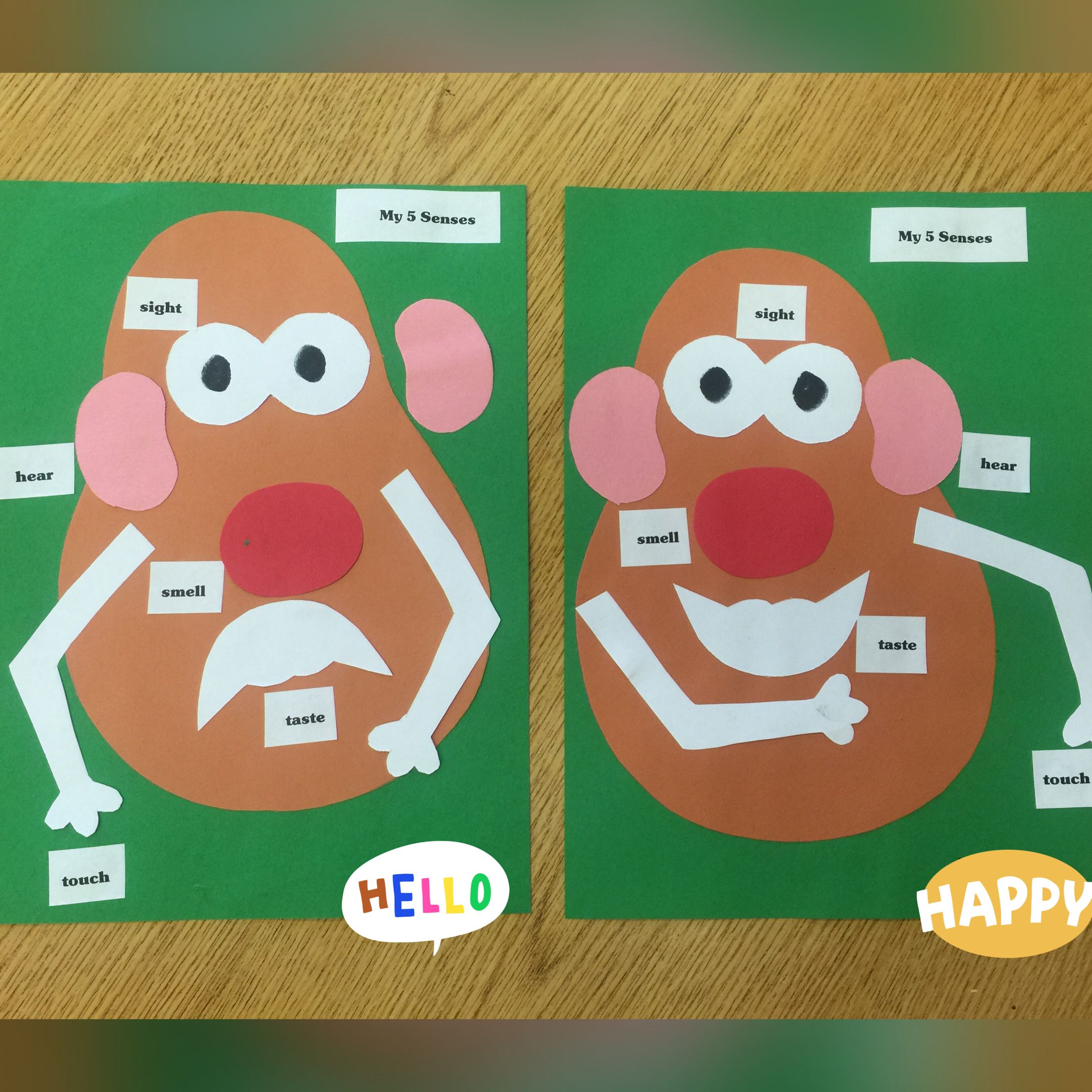 Mr Potato Head 5 Senses Activity Preschool Or