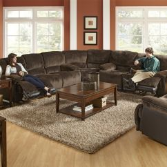 Transitional Style Sectional Sofas Dark Brown Leather Sofa Room Ideas A Reclining In The Catnapper