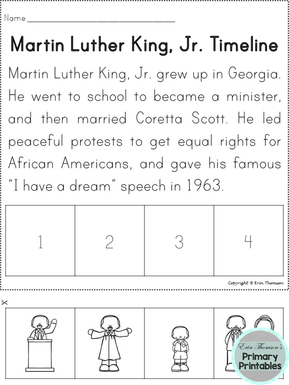 Martin Luther King Jr And Rosa Parks Mini Unit