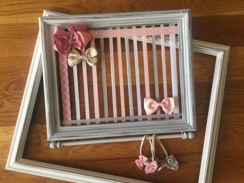 Hair Bow Holder, Baby Girl Nursery, Wall Organizer