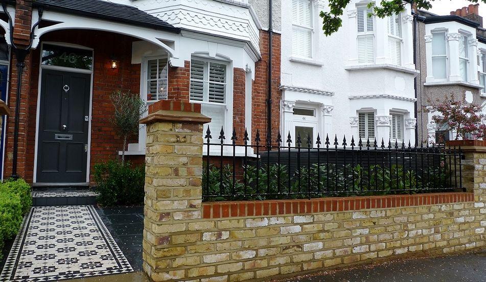 Front Garden Brick Wall Design
