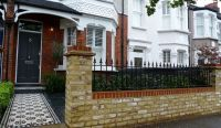 Front Garden Brick Wall Design
