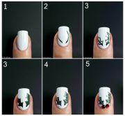 christmas holly nail art - tutorial