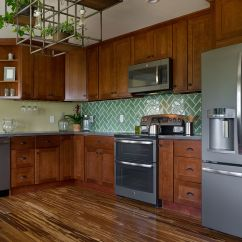 Slate Kitchen Appliances Displays For Sale Showcasing Findley And Myers Montauk Cherry Cabinets