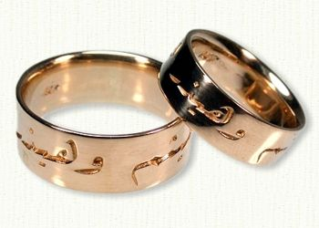 Custom Arabic Wedding Rings and Wedding Bands by deSignet  Weddings of Arabia  Pinterest
