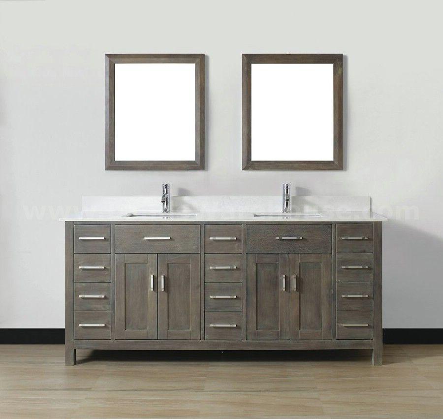 gray vanity white sink