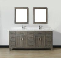 gray vanity white sink
