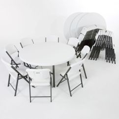 Lifetime Stacking Chairs 2830 Black Molded Seat Accent Arm Living Room Combo 4 5 39 Round Table And 32 18