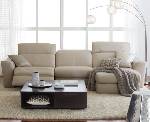 macys leather sofa with chaise best sectional for family alessandro 6-piece & 2 power ...