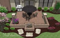 Fun and Simple Patio With a Fire Pit | Patio Designs and ...