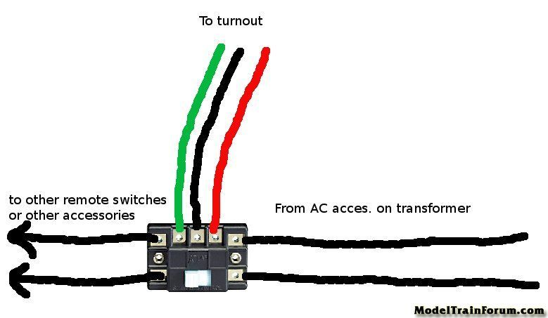 ho train track switch wiring