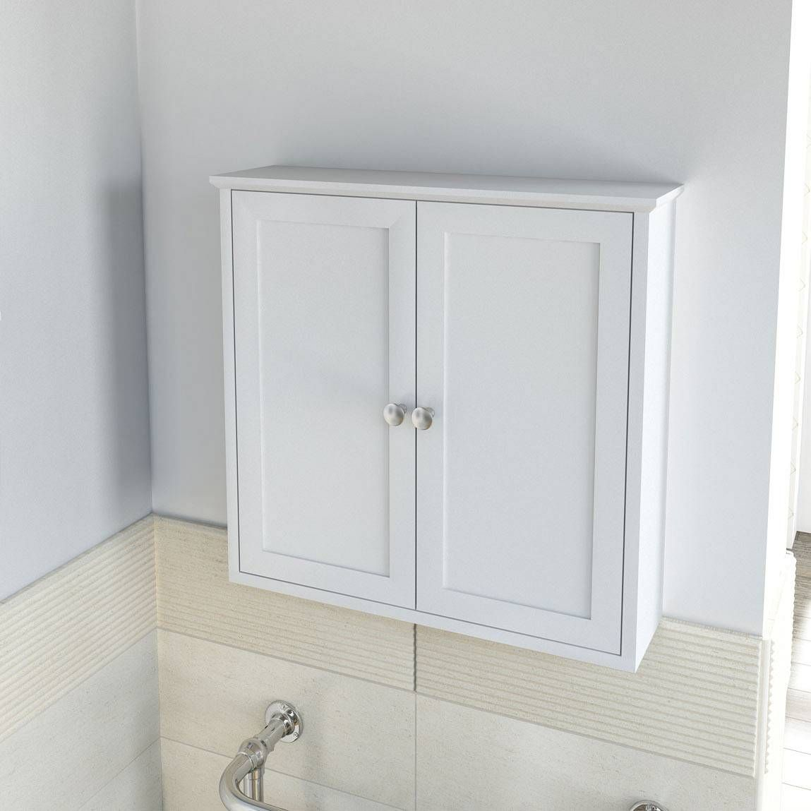 camberley white wall mounted cabinet �60 also in sage green