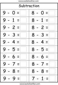 Subtraction - 4 Worksheets | Printable Worksheets ...