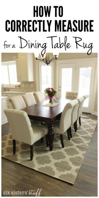 How To Correctly Measure for a Dining Room Table Rug ...