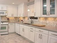 Image of: Kitchen Tile Ideas with White Cabinets | home ...