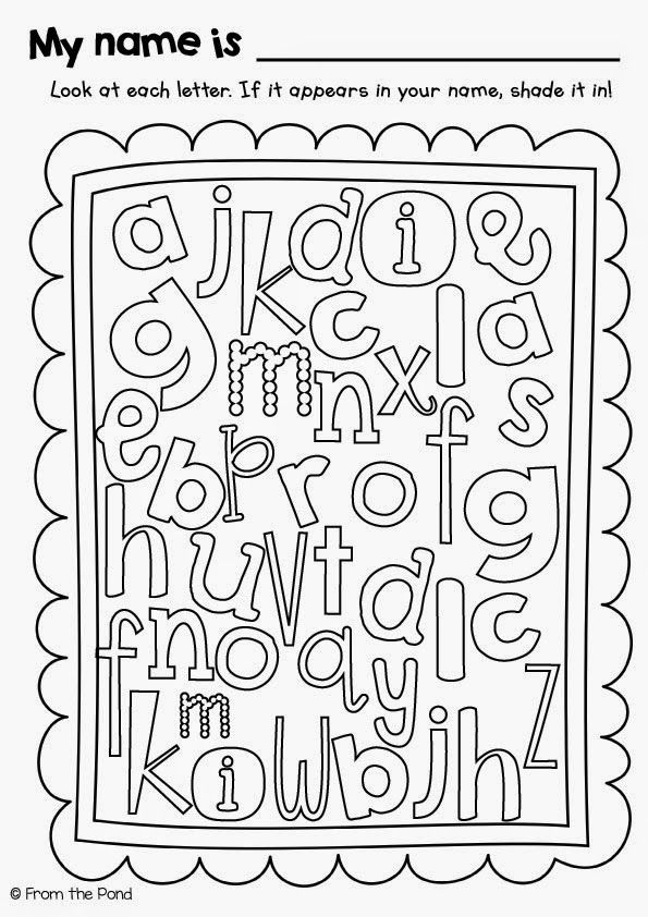 Name Letter Hunt Freebie Worksheet! Repinned by SOS Inc