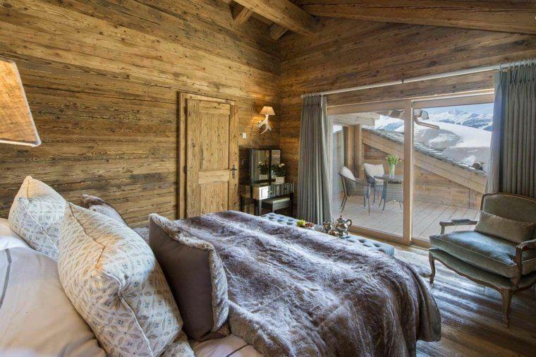 Dco chalet montagne  une centaine dides pour la chambre  coucher  Chalet de montagne Deco