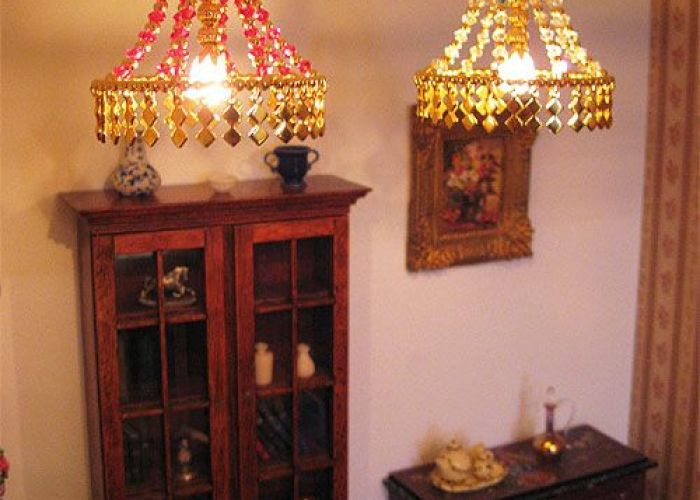 Ceiling light with ring dollhouse tutorial doll house miniature also