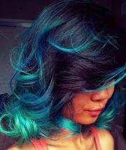 aquatic curls blue green