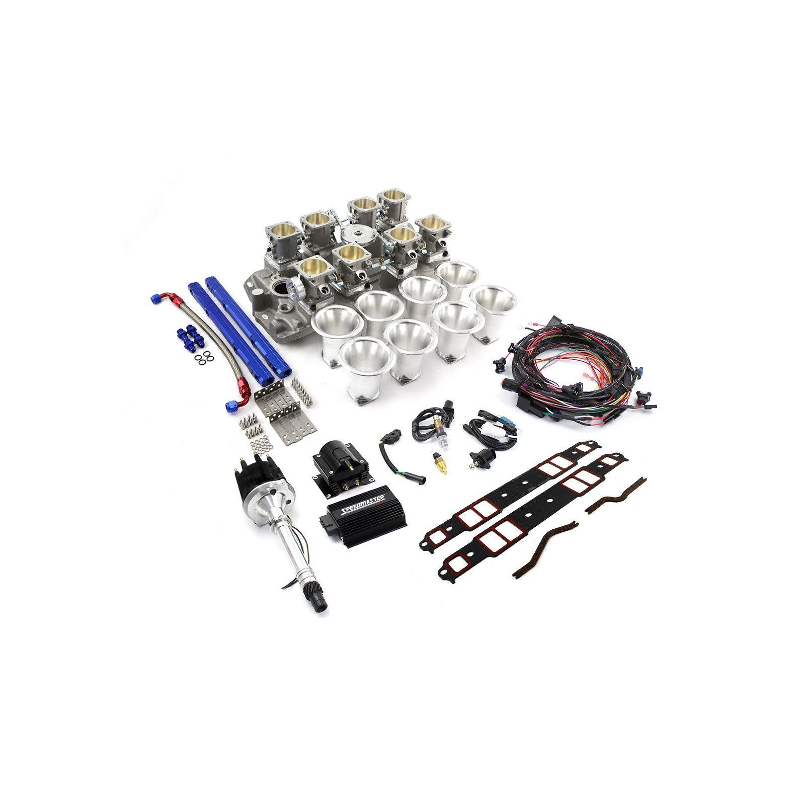 Chevy SBC Down Draft 8 Stack Turnkey EFI Individual